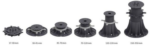 Wspornik tarasowy pod płyty 2 mm czarny 1